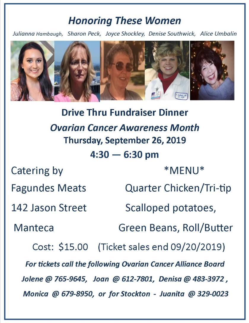 flyer Fundraiser Drive thru Dinner 2019